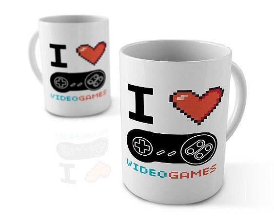 Caneca Personalizada I Love Games