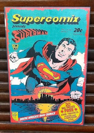 Placa decorativa em metal Superman Supercomix