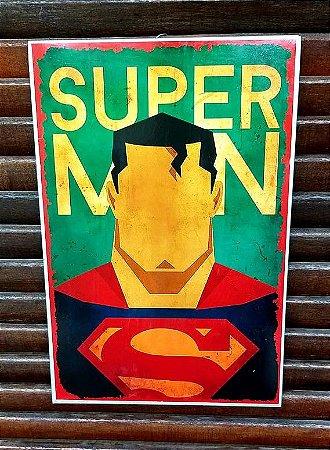Placa decorativa em metal Superman