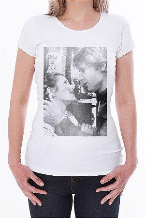 Camiseta Feminina Han & Leia