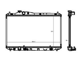 Radiador Civic 1.8 / 2.0 16V ( 12 > ) com Ar / Automatico / Manual / Aluminio Brasado - CFB20012016