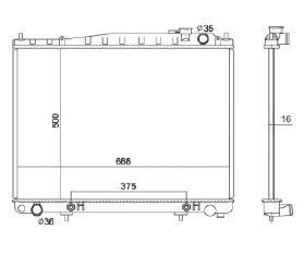 Radiador Pathfinder 3.5 V6 ( 01 - 04 ) com / sem Ar / Automatico / Manual / Aluminio Brasado - CFB2459116