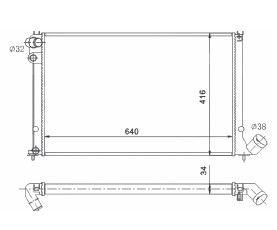 Radiador 406 2.0 16V ( 95 > ) com Ar / Manual / Aluminio Brasado - CFB4588534