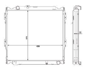 Radiador Hillux Sw4 3.0 TD ( > 04 ) com Ar / Automatico / Manual / Aluminio Brasado - CFB3400132