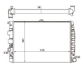 Radiador Gol / Parati / Saveiro 1.0 / 1.6 / 1.8 / 2.0 / 2.0 16V ( 95 - 08 ) G2 / G3 / G4 com Ar / Manual / Aluminio Brasado - CFB7062126