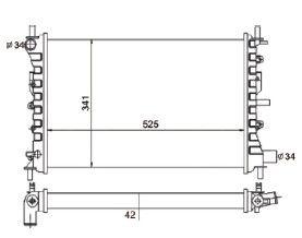 Radiador Logus / Pointer 1.8 / 2.0 ( 93 - 96 ) com / sem Ar / Manual / Aluminio Mecanico - CFB7052542