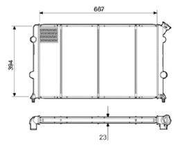 Radiador S10 / Blazer 2.0 / 2.2 / 2.4 Flex com Ar / Manual / Aluminio Brasado - CFB29224523