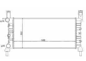 Radiador Uno / Fiorino / Prêmio 1.4 / 1.5 / 1.6 ( 99 - 00 ) sem Vaso com Ar / Manual / Aluminio Mecanico - CFB7016534