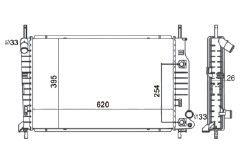 Radiador Mondeo 1.8 / 2.5 V6 ( 95 - 01 ) com Ar / Automatico / Manual / Aluminio Brasado - CFB1719126