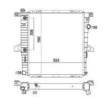 Radiador Explorer 4.0 V6 ( 98 > ) com / sem Ar / Automatico / Manual / Aluminio Brasado - CFB2309126