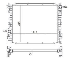 Radiador Mustang 4.0 / 4.6 ( 05 - 08 ) com Ar / Automatico / Manual / Aluminio Brasado - CFB2789126