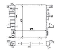 Radiador Ranger 4.0 V6 ( 95 - 97 ) com / sem Ar / Automatico / Manual / Aluminio Brasado - CFB1721156