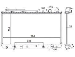 Radiador Crv 2.0 ( 97 - 01 ) com / sem Ar / Automatico / Manual / Aluminio Brasado - CFB2051116