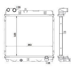 Radiador Fit 1.4 / 1.5 16V ( 03 - 08 ) com Ar / Manual / Aluminio Brasado - CFB20182126