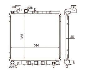 Radiador Atos Prime 1.0 12V ( 98 > ) com Ar / Manual / Aluminio Brasado - CFB5435126