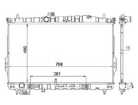 Radiador Trajet 2.7 V6 24V / 2.0 16V ( 99 > ) com / sem Ar / Automatico / Manual / Aluminio Brasado - CFB5356116