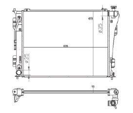 Radiador Sonata 2.4 ( 11 > ) com Ar / Automatico / Manual / Aluminio Brasado - CFB20037116