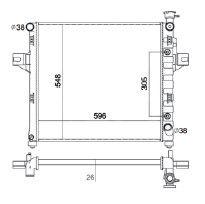 Radiador Grand Cherokee 4.7 V8 ( 99 - 00 ) com / sem Ar / Automatico / Mecanico Tec. Ab - CFB2263126