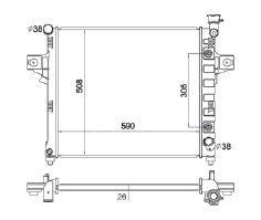 Radiador Grand Cherokee 4.7 V8 ( 01 - 03 ) com / sem Ar / Automatico / Manual / Aluminio Brasado - CFB2336126