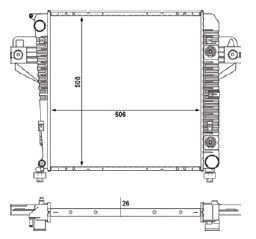 Radiador Cherolee Sport ( 02 - 06 ) com / sem Ar / Automatico / Manual / Aluminio Brasado - CFB2481126
