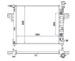 Radiador Grand Cherokee Todos ( 04 ) com / sem Ar / Automatico / Manual / Aluminio Brasado - CFB2746126