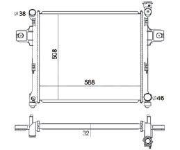 Radiador Grand Cherokee 5.7 V8 ( 05 - 09 ) com / sem Ar / Automatico / Manual / Aluminio Brasado - CFB2840132