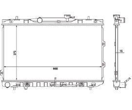 Radiador Cerato 1.6 / 2.0 16V ( 04 - 08 ) com Ar / Automatico / Manual / Aluminio Brasado - CFB20331116