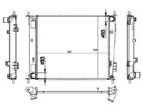 Radiador Soul 1.6 16V ( 09 > ) ( Nt - 20042.126 ) com Ar / Mecanico Tec. Ab - CFB20042116