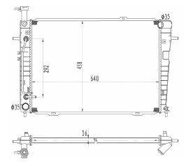 Radiador Sportage 2.0 16V ( 05 - 09 ) com / sem Ar / Automatico / Manual / Aluminio Brasado - CFB2787116