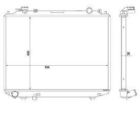 Radiador B2500 2.5 ( 98 - 00 ) com / sem Ar / Manual / Aluminio Brasado - CFB20053126
