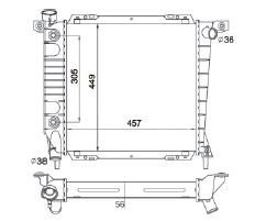 Radiador Navajo 4.0 V6 ( 91 - 94 ) com Ar / Automatico / Manual / Aluminio Brasado - CFB1164156