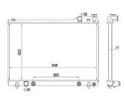 Radiador 929 3.0 V6 ( 92 - 95 ) com / sem Ar / Automatico / Manual / Aluminio Brasado - CFB1307126