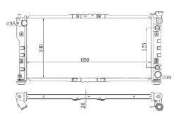 Radiador 626 2.0 L4 ( 98 - 99 ) com / sem Ar / Automatico / Manual / Aluminio Brasado - CFB2008126