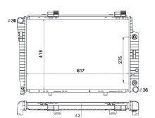 Radiador C280 2.8 V6 ( 98 - 00 ) / Slk 230 2.3 ( 98 - 03 ) com / sem Ar / Automatico / Manual / Aluminio Brasado - CFB2212142