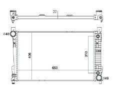 Radiador C230 2.3 ( 02 > ) / C230 / C240 / C320 com / sem Ar / Automatico / Manual / Aluminio Brasado - CFB2337022
