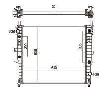 Radiador Ml320 / 430 3.2 V6 ( 98 - 02 ) com Ar / Automatico / Manual / Aluminio Brasado - CFB2345132