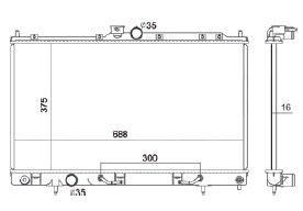 Radiador Lancer 2.0 L4 ( 02 - 06 ) com / sem Ar / Automatico / Manual / Aluminio Brasado - CFB2448116