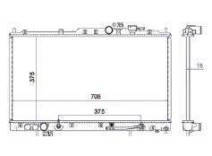 Radiador Galant 3.0 V6 ( 99 - 00 ) com / sem Ar / Automatico / Manual / Aluminio Brasado - CFB2301116
