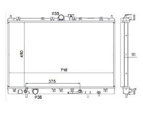 Radiador Space Wagon 2.4 16V ( 99 > ) com / sem Ar / Automatico / Manual / Aluminio Brasado - CFB5635116