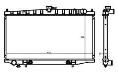 Radiador Altima 2.4 L4 ( 93 - 97 ) com / sem Ar / Automatico / Manual / Aluminio Brasado - CFB1573126