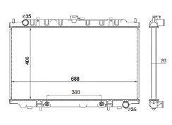 Radiador Maxima 3.0 V6 ( 94 - 99 ) com / sem Ar / Automatico / Manual / Aluminio Brasado - CFB1752126