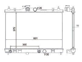 Radiador Livina 1.6 / 1.8 16V ( 09 > ) / Tiida 1.8 ( 07 > ) com / sem Ar / Automatico / Aluminio Brasado - CFB2981116