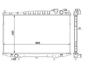 Radiador Frontier Japonesa com / sem Ar / Manual / Aluminio Brasado - CFB20184126