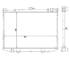 Radiador Pathfinder Diesel ( > 95 ) com / sem Ar / Manual / Aluminio Brasado - CFB20051126