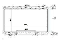 Radiador Sentra 2.0 ( 00 - 01 ) com / sem Ar / Automatico / Manual / Aluminio Brasado - CFB2328116