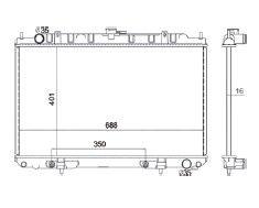 Radiador Maxima 3.0 V6 ( 99 - 01 ) com / sem Ar / Automatico / Manual / Aluminio Brasado - CFB2329116
