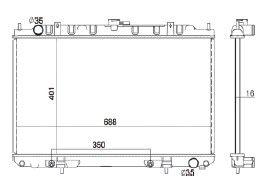 Radiador Maxima 3.5 V6 ( 02 - 03 ) com / sem Ar / Automatico / Manual / Aluminio Brasado - CFB2612116