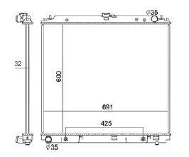 Radiador Pathfinder 4.0 V6 ( 05 - 09 ) com / sem Ar / Automatico / Manual / Aluminio Brasado - CFB2807132