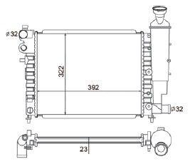Radiador 106 1.0 ( 95 - 01 ) sem Ar / Manual / Aluminio Mecanico - CFB3430523
