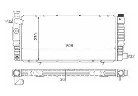 Radiador 205 1.6 ( > 94 ) com Ar / Manual / Aluminio Brasado - CFB4569126